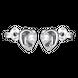 Bông tai bạc đính đá PNJSilver hình trái tim XMXMK000114