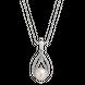 Mặt dây chuyền bạc đính ngọc trai PNJSilver hình giọt nước PFXMK000030