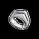 Nhẫn nam bạc đính đá màu đen PNJSilver ZT00K000058