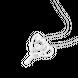Mặt dây chuyền Vàng trắng 10K đính đá ECZ Swarovski PNJ XM00W060088