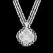 Mặt dây chuyền Kim cương Vàng trắng 14K PNJ DDDDW001100