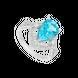 Nhẫn Vàng trắng 14K đính đá Topaz PNJ TPXMW000384
