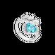 Nhẫn Vàng trắng 14K đính đá Topaz PNJ Nụ Tầm Xuân TPXMW000389