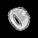 Nhẫn nam Vàng trắng 10K đính đá ECZ Swarovski PNJ XMXMW000155