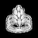 Nhẫn Vàng trắng Ý 18K PNJ XM00W000772