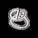Nhẫn bạc đính đá màu đen PNJSilver ZT00A000001