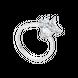 Nhẫn Vàng trắng 10K đính đá ECZ Swarovski PNJ XMXMW001952