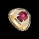 Nhẫn nam Vàng 18K đính đá Ruby PNJ RBXMY000628
