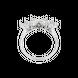 Nhẫn Vàng trắng 10K đính đá ECZ PNJ XMXMW001953
