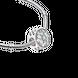 Hạt charm xỏ DIY PNJSilver hình hoa văn XMXMK060077