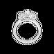 Nhẫn Vàng trắng Ý 18K PNJ 0000W001469
