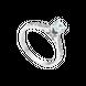 Nhẫn Vàng trắng 10K đính đá ECZ PNJ XMXMW000127