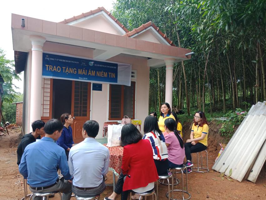 Mái ấm niềm tin đến với người nghèo tại tỉnh Quảng Ngãi
