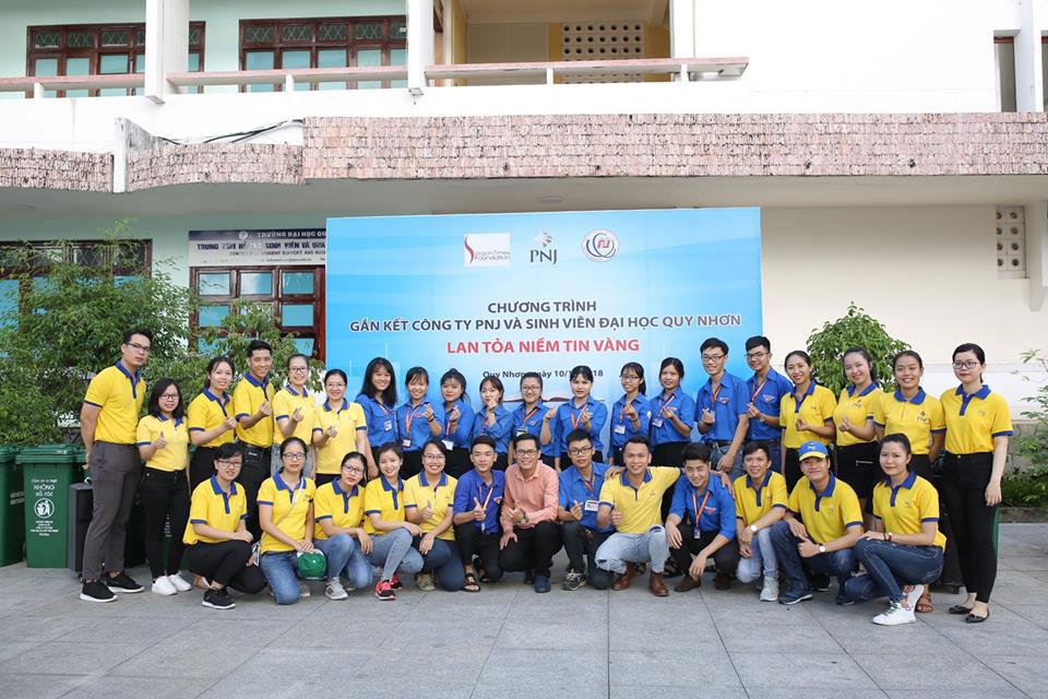 Chương trình gắn kết PNJ và sinh viên về với trường đại học Quy Nhơn