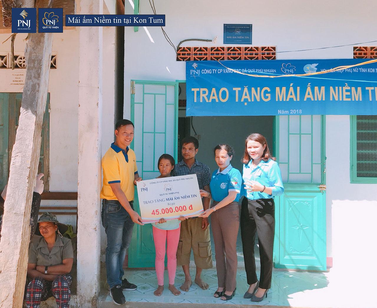 Mái ấm niềm tin đến với người nghèo tại tỉnh Kon Tum