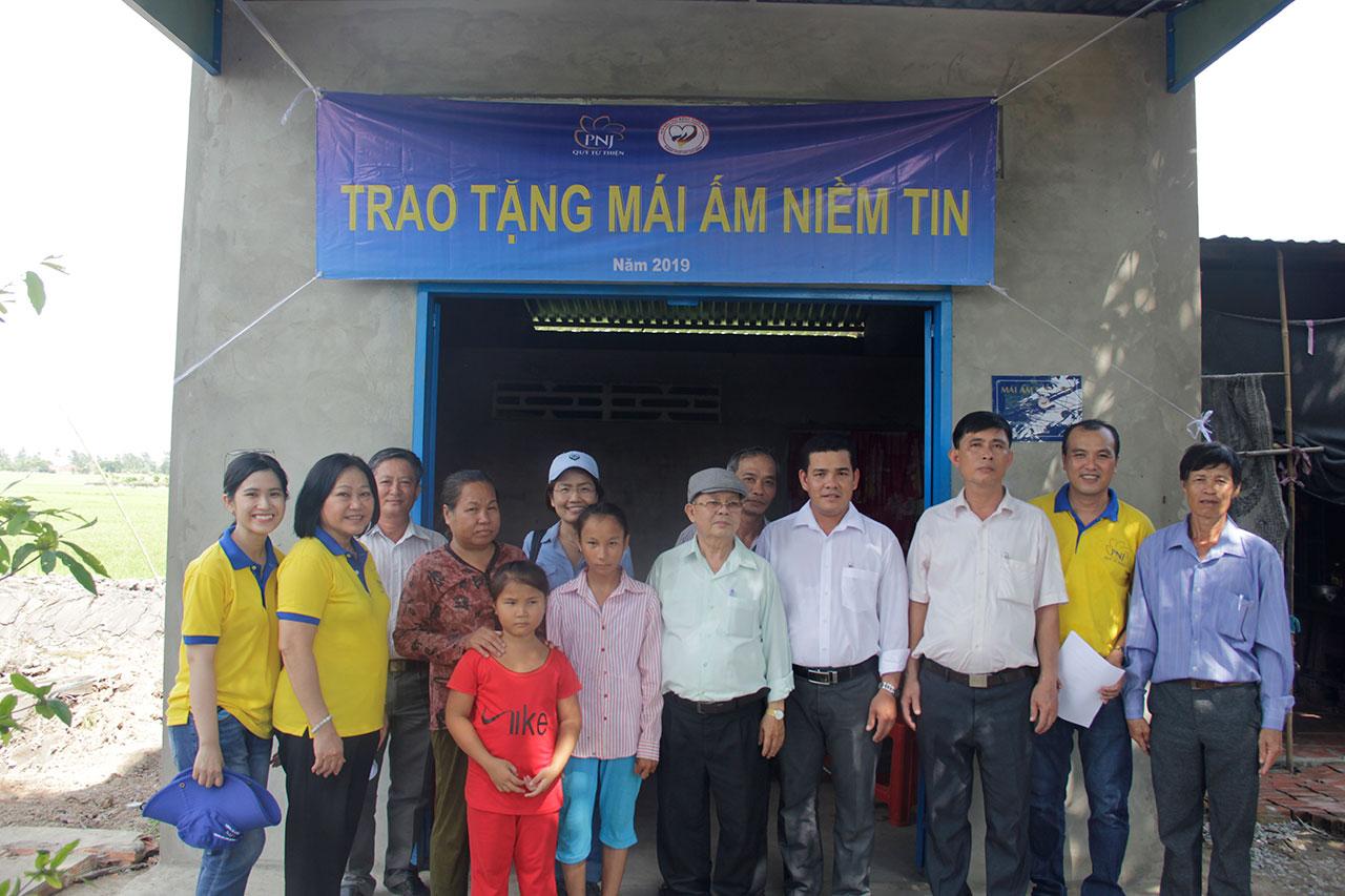 Mái ấm niềm tin đến với người nghèo tại 2 tỉnh Tiền Giang và Bến Tre